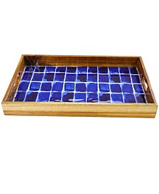 """Mounceambique 17"""" Enameled Serving Tray"""