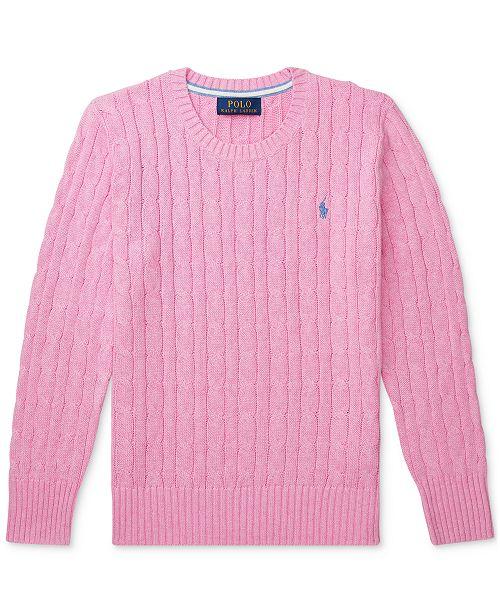 Polo Ralph Lauren Big Boys Cable-Knit Cotton Sweater