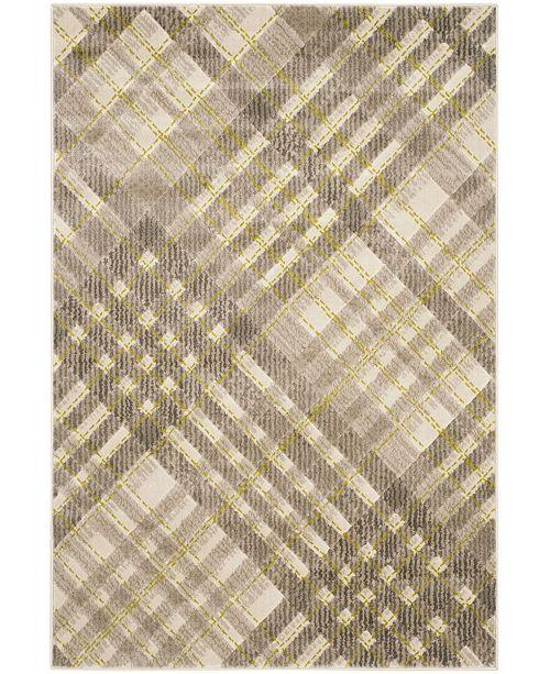 Safavieh Porcello Gray and Dark Gray 6' x 9' Area Rug