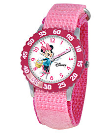 Disney Watch, Kid's Minnie Mouse Time Teacher Pink Strap 31mm W000024