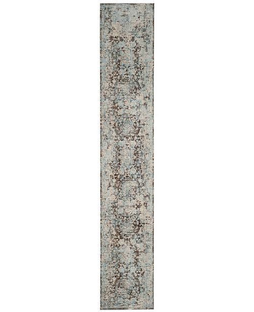"""Safavieh Vintage Persian Brown and Light Blue 2'2"""" x 12' Runner Area Rug"""