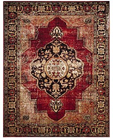Vintage Hamadan Red and Multi 9' x 12' Area Rug