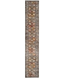 """Vintage Persian Brown and Multi 2'2"""" x 10' Runner Area Rug"""