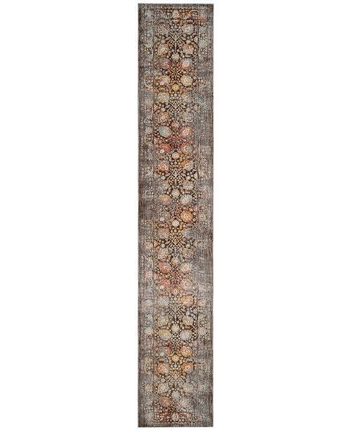 "Safavieh Vintage Persian Brown and Multi 2'2"" x 10' Runner Area Rug"