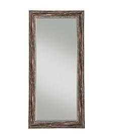 Martin Svensson  Antique Black Farmhouse Full Length Leaner Mirror