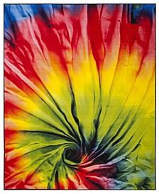 Paint Brush Fuchsia and Yellow 8' x 10' Area Rug