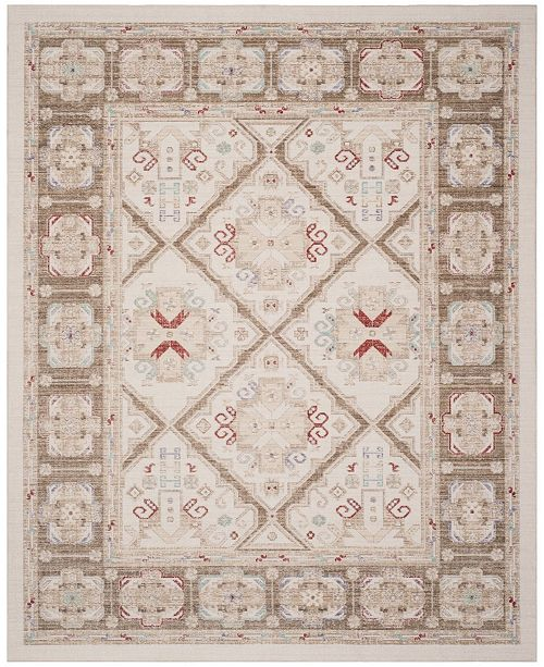 Safavieh Windsor Ivory and Brown 8' x 10' Area Rug