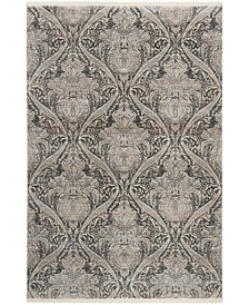 Vintage Persian Gray and Charcoal 3' x 5' Area Rug