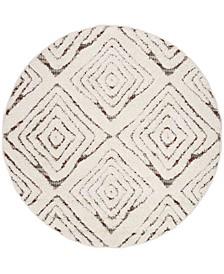 """Santorini Cream and Multi 6'7"""" x 6'7"""" Round Area Rug"""