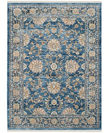 Vintage Persian Turquoise and Multi 10' x 13' Area Rug