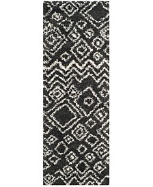 "Safavieh Belize Charcoal and Ivory 2'3"" x 7' Runner Area Rug"