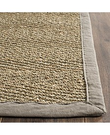 Natural Fiber Natural and Gray 8' x 10' Sisal Weave Area Rug
