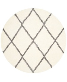 "Safavieh Montreal Ivory and Gray 6'7"" x 6'7"" Round Area Rug"
