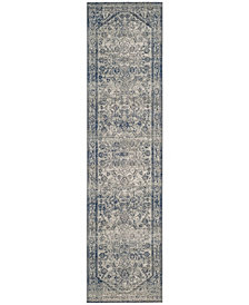 "Safavieh Artisan Silver and Blue 2'2"" x 8' Runner Area Rug"