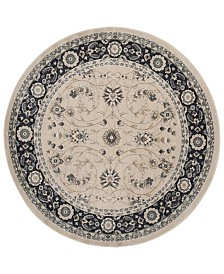 Safavieh Lyndhurst Light Beige and Anthracite 7' x 7' Round Area Rug