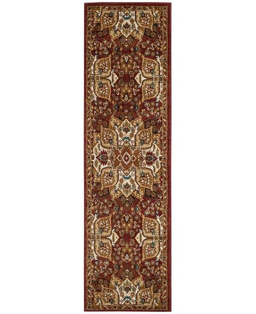 """Safavieh Summit Red and Ivory 2'3"""" x 8' Runner Area Rug"""