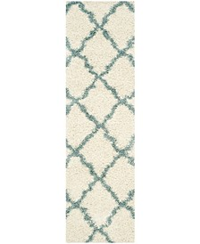 """Dallas Ivory and Light Blue 2'3"""" x 6' Runner Area Rug"""