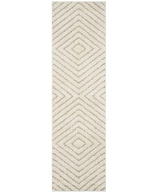 "Safavieh Olympia Cream and Beige 2'3"" x 8' Runner Area Rug"