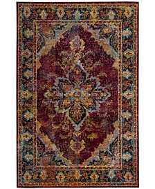 Crystal Ruby and Navy 5' x 8' Area Rug