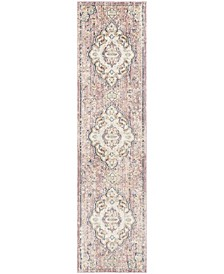 "Illusion Cream and Rose 2'3"" x 8' Runner Area Rug"