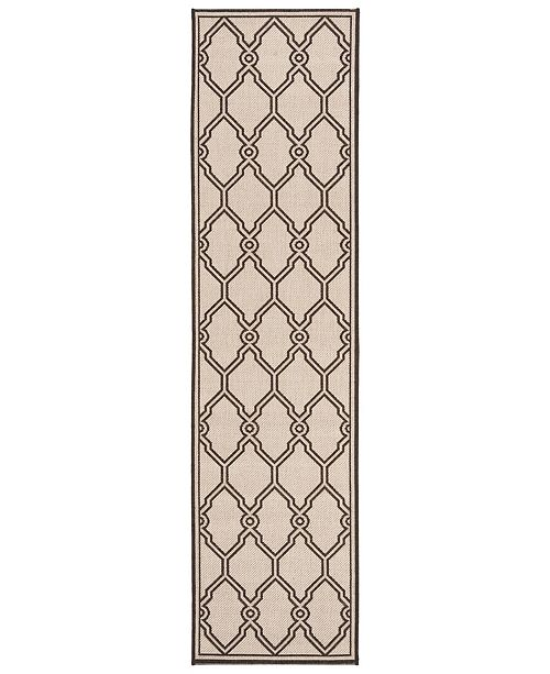 Safavieh Linden Natural and Brown 2' x 8' Runner Area Rug