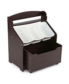 Kids 3-Tier Storage Organizer with Rolling Toy Box