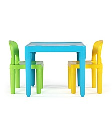 Kids Plastic Table and 2 Chairs