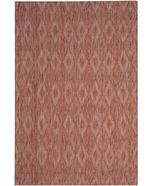"Safavieh Courtyard Red 5'3"" x 7'7"" Area Rug"
