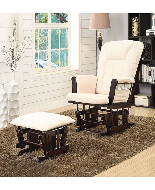 Acme Furniture Paola 2-Piece Glider Chair & Ottoman