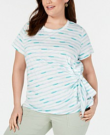 Plus Size Side-Tie T-Shirt, Created for Macy's