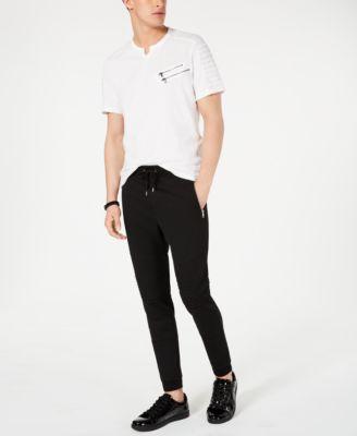 INC Men's Moto Knit Jogger Pants, Created for Macy's