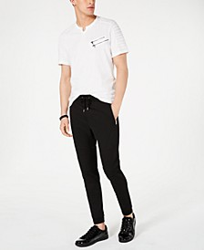 I.N.C. Men's Split-Neck T-Shirt & Moto Knit Jogger Pants, Created for Macy's