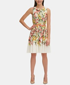 Tommy Hilfiger Floral Eyelet Fit & Flare Dress