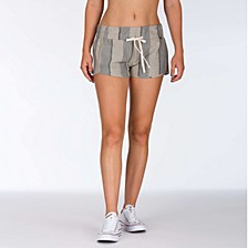 Juniors' Cotton Striped Beach Shorts