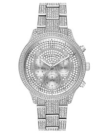 Michael Kors Women's Chronograph Runway Stainless Steel & Crystal Bracelet Watch 49mm