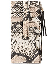I.N.C. Glam Python-Embossed Card Case, Created for Macy's