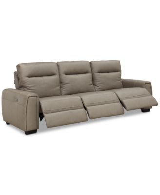Cheadle 3-Pc. Leather Sectional Sofa with 3 Power Recliners, Created for Macy's