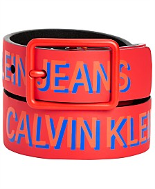 Calvin Klein Big Boys Shadow Logo Printed Belt