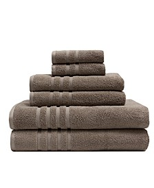 6-Pc Plush Bamboo-Blend Towel Set