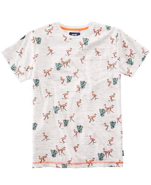 Univibe Big Boys Lowland Flamingo Pocket T-Shirt