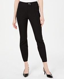 Alfani Statement-Hardware Skinny Pants, Created for Macy's