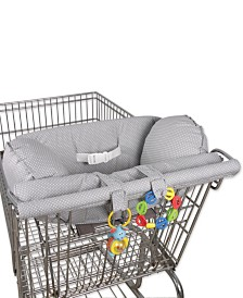 Leachco Prop 'R Shopper Body Fit Shopping Cart Cover, Gray Pin Dot