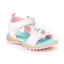 Toddler & Little Girls Feline Unicorn Light-Up Sandals