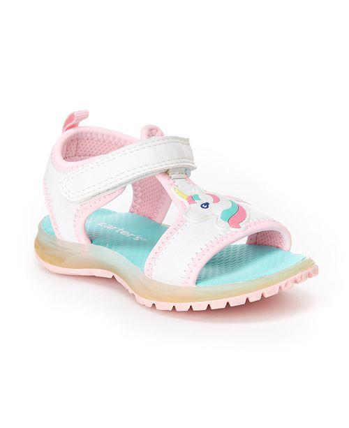 6251873e5d Carter's Toddler & Little Girls Feline Unicorn Light-Up Sandals ...