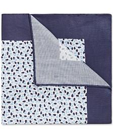BOSS Men's Italian-Made Printed Cotton Pocket Square