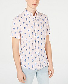 Men's Palm Tree Graphic Linen Shirt, Created for Macy's