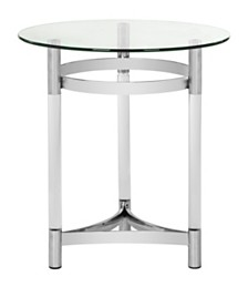 Letty Round Acrylic End Table, Quick Ship