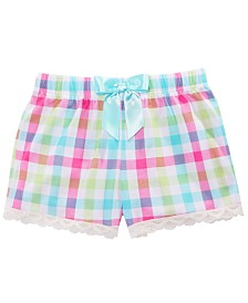 Max & Olivia Little & Big Girls Plaid Pajama Shorts, Created for Macy's