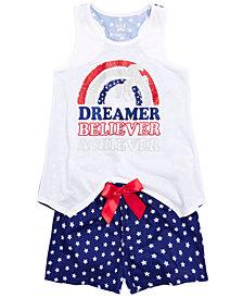Max & Olivia Little & Big Girls 2-Pc. Achiever Pajama Set