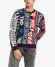 Tommy Hilfiger Denim Men's Banner Regular-Fit Logo Sweater